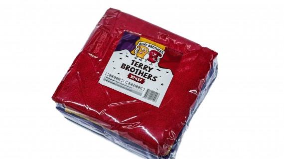 Комплект микрофибровых полотенец без краев BUFF BROTHERS TERRY BROTHERS 37x37 (комплект 6шт.)