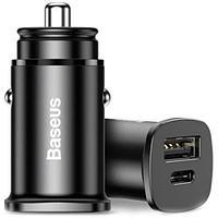 Автомобильное зарядное устройство Baseus Square metal A+C 30W PPS Car Charger