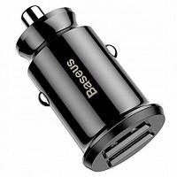 Автомобильное зарядное устройство Baseus Grain Car Charger Dual USB 5V 3.1A