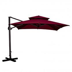 Зонт уличный квадратный Bordo (3х3м) (бордовый) с утяжелителем