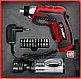 Отвертка аккумуляторная 3.6 В ЗУБР ViX, в коробке с 10 битами и насадкой штопором, фото 7