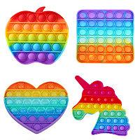 Сенсорная игрушка антистресс брелок с пузырьками разноцветные Пупырка POP IT в ассортименте