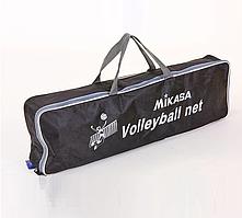 Сетка волейбольная (MIKASA нить D=3 мм, стальной трос D=3 мм)