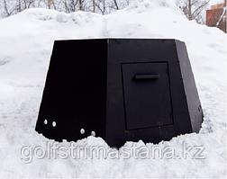 Ветрозащита из черного металла - 3 мм /  для чана 1650 мм, 1850 мм