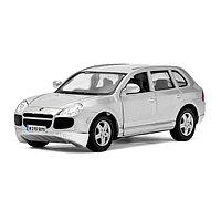 Машина металлическая Porsche Cayenne Turbo, масштаб 1:38, открываются двери, инерция, цвет серебрист ...