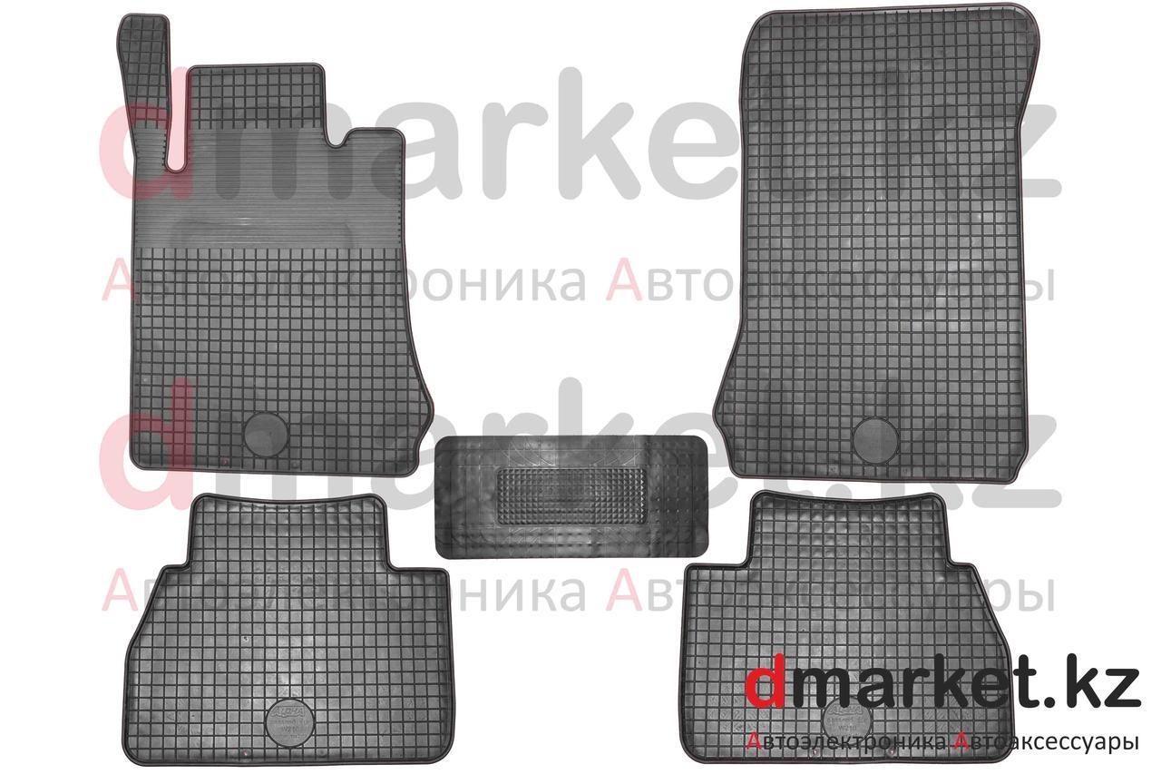 Коврики полики Mercedes W210, черные, резиновые, 5 предметов