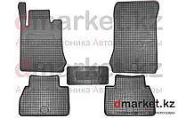 Коврики полики Mercedes W210, черные, резиновые, 5 предметов, фото 1