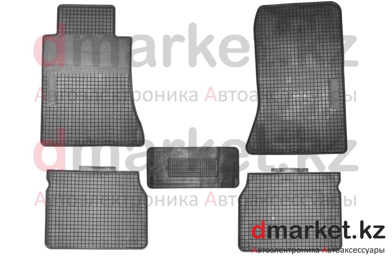 Коврики полики Mercedes W124, черные, резиновые, 5 предметов