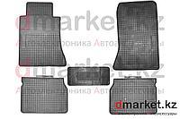 Коврики полики Mercedes W124, черные, резиновые, 5 предметов, фото 1