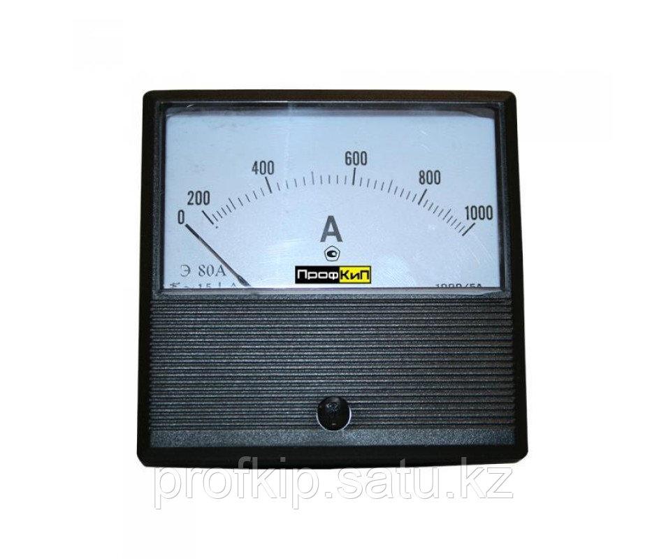 ПрофКиП Э80А амперметр щитовой переменного тока 0-600А/5А