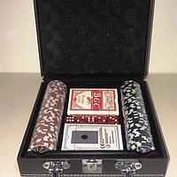 Покерный набор в металлическом кейсе на 100 фишек
