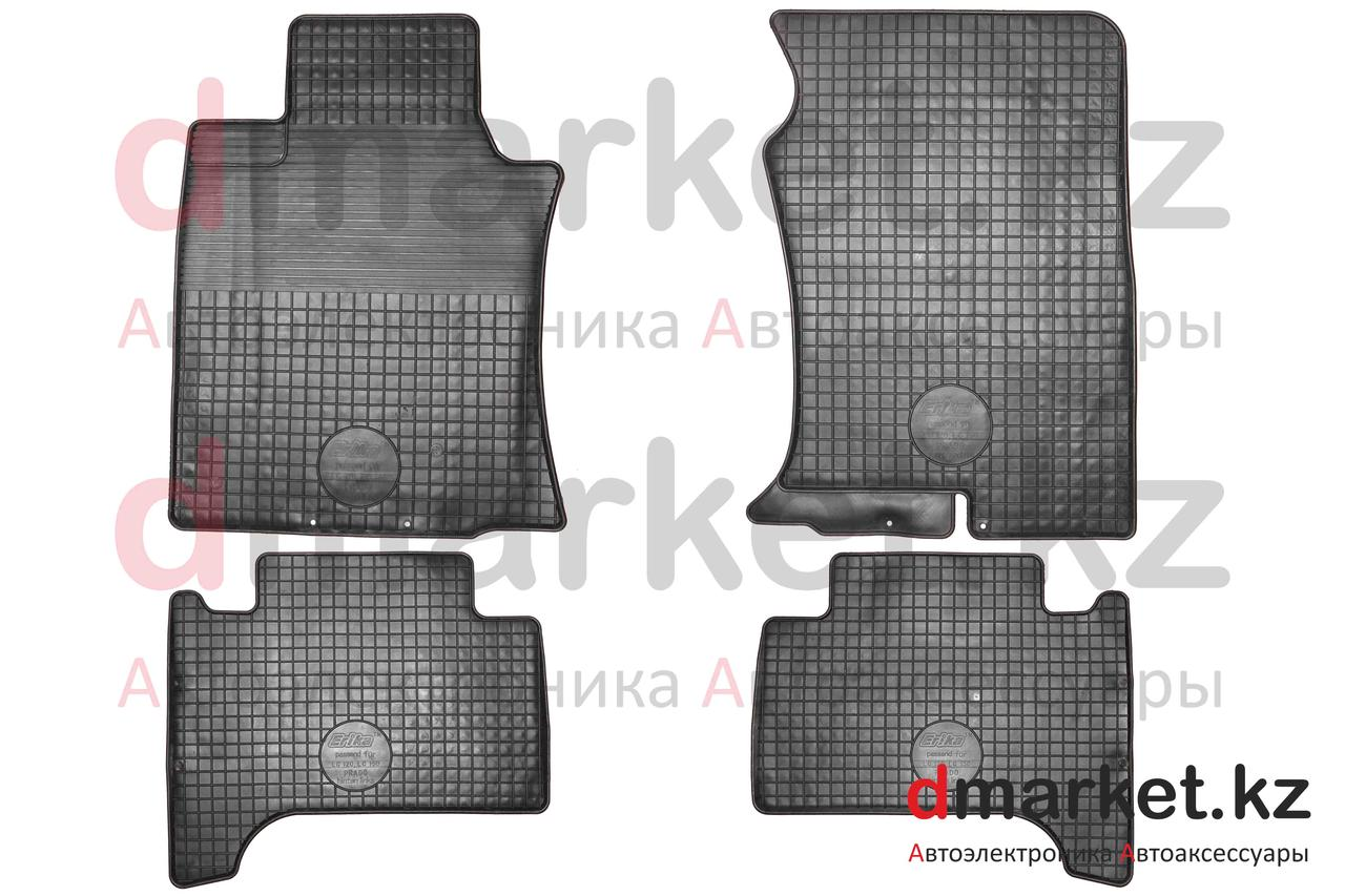 Коврики полики Toyota Land Cruiser Prado 120, черные, резиновые, 4 предмета