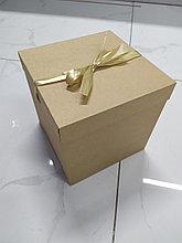 Подарочная крафтовая коробка  22*22*22см