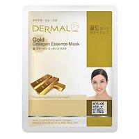 Dermal Collagen Essence Mask Gold Маска коллагеновая с коллоидным золотом 1 шт 23 гр 009