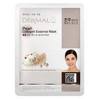 Dermal Collagen Essence Mask Pearl Маска коллагеновая с жемчужиной пудрой 1 шт 23 гр 001