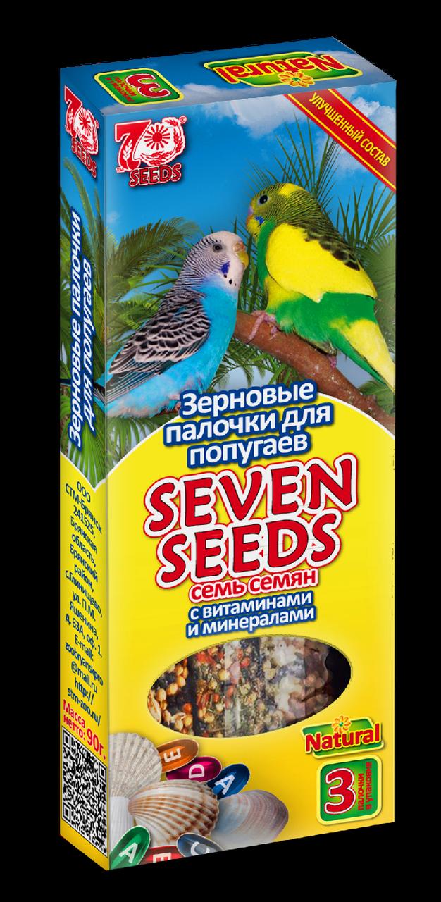 Seven Seeds Зерновые палочки для попугаев с витаминами и минералами