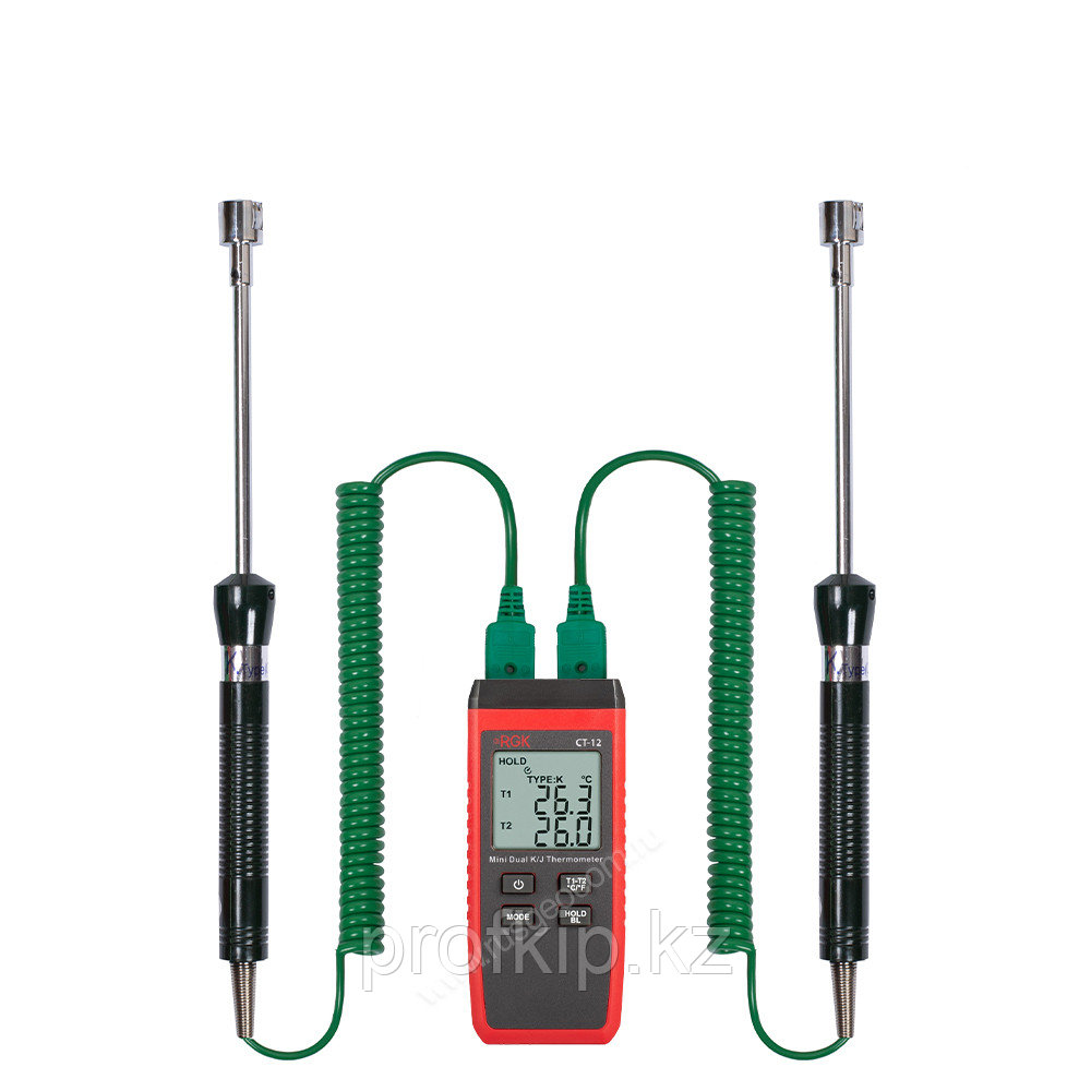 Термометр RGK CT-12 с поверхностными зондами TR-10S с поверкой