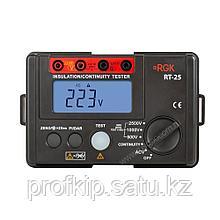 Цифровой мегаомметр RGK RT-25 с поверкой