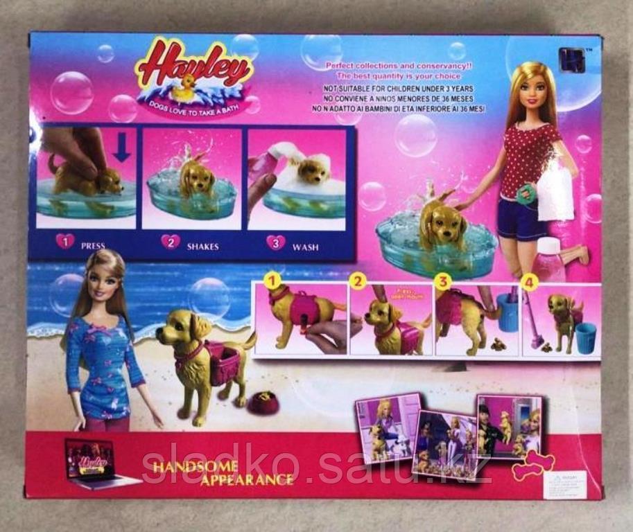 Кукла Hayley Барби набор уход за любимцами 3 собачки - фото 2