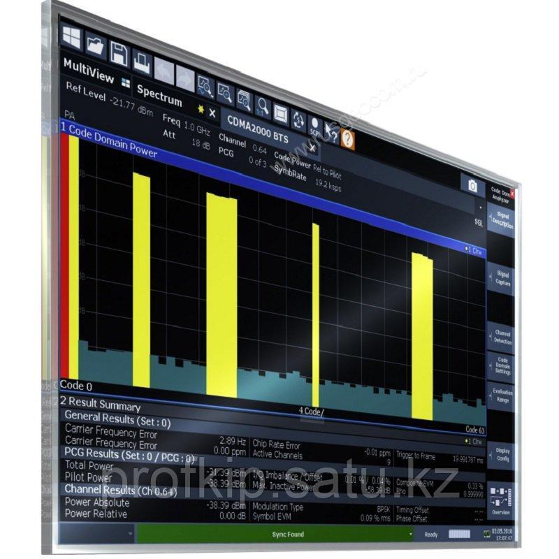 Анализ сигналов базовых станций cdma2000 Rohde&Schwarz FSW-K82 для анализаторов спектра и сигналов