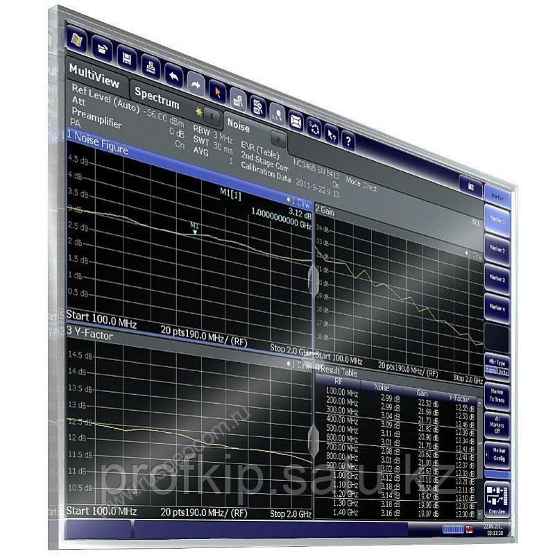 Измерение коэффициента шума и усиления Rohde&Schwarz FPS-K30 для анализаторов спектра и сигналов