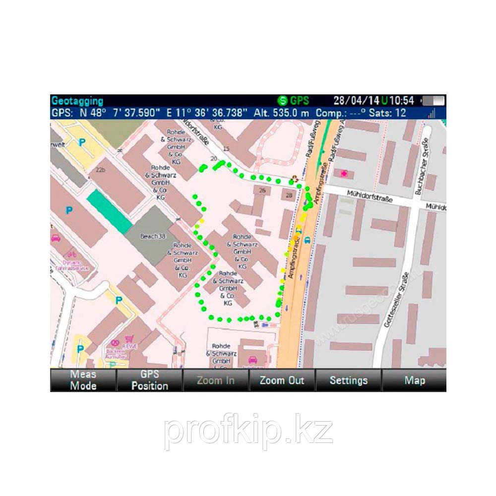 Опция приложение для геопривязки Rohde & Schwarz FSH-K16