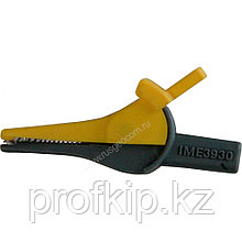 """Зажим изолированный типа """"крокодил"""", прямой, желтый Радио-Сервис 127994"""