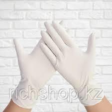 Перчатки латекс 50 пар/уп размер S,M,L - фото 1