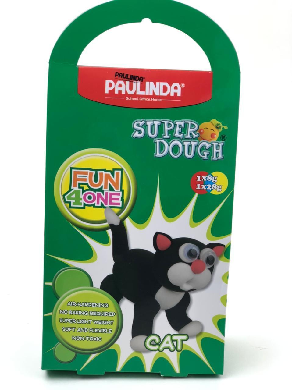 Paulinda масса для лепки кот, подвижные глаза
