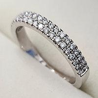 Золотое кольцо с бриллиантами 0.28Сt VS1/J EX-Cut, фото 1