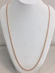 Цепь - 60 см / красное золото