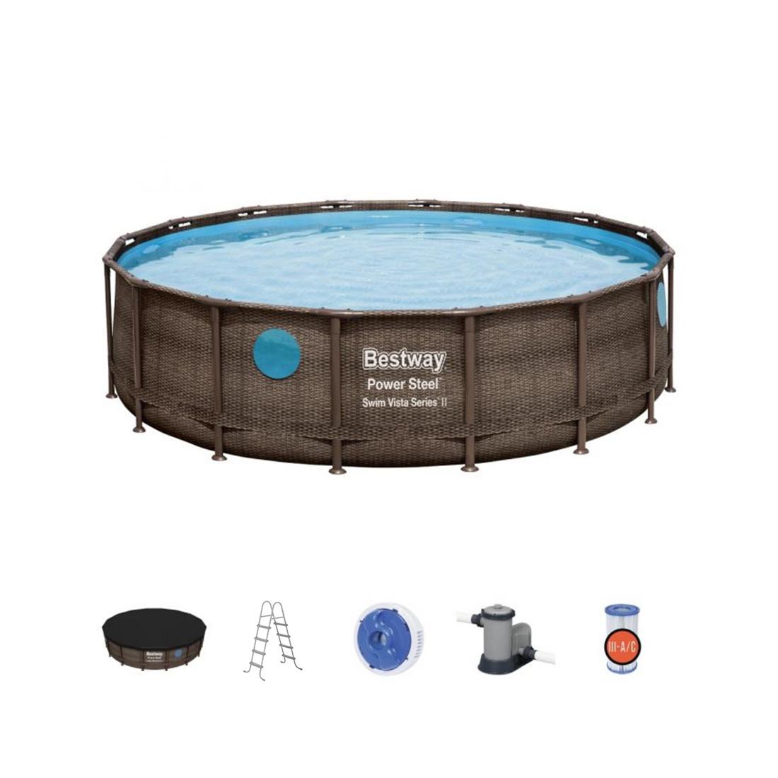 Каркасный бассейн ротанг Bestway 56725 (488х122см)