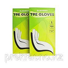 Перчатки S Elegreen TPE эластомер одноразовые прозрачные