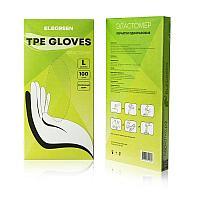 Перчатки L Elegreen TPE эластомер одноразовые прозрачные