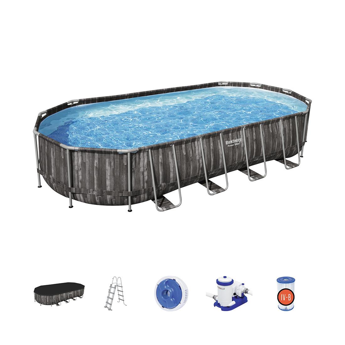 Каркасный бассейн Power Steel 671 х 132 см, BESTWAY, 56889