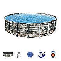 Каркасный бассейн Power Steel 610 х 132 см, BESTWAY, 56883