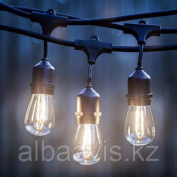 Гирлянда белт лайт навесная, светодиодный led belt light, ретро гирлянда, гирлянда для кафе