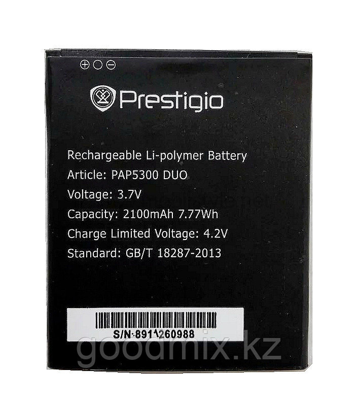 Аккумулятор для Prestigio MultiPhone 5300 Duo (PAP5300 Duo, 2100mah)