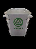 Мусорный контейнер для ТБО 0.75 м3 с крышкой без колес
