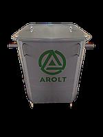 Мусорный контейнер для ТБО 0.75 м3 с крышкой на колесах