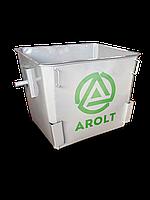 Мусорный контейнер для ТБО 1,1 м3 Евро контейнер без колес, без крышек
