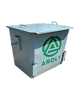 Мусорный контейнер для ТБО 1,1 м3 Евро контейнер с крышкой, без колес