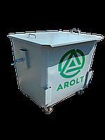 Мусорный контейнер для ТБО 1,1 м3 Евро контейнер на колесах и с крышкой