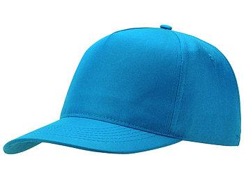 Бейсболка Poly 5-ти панельная, голубой