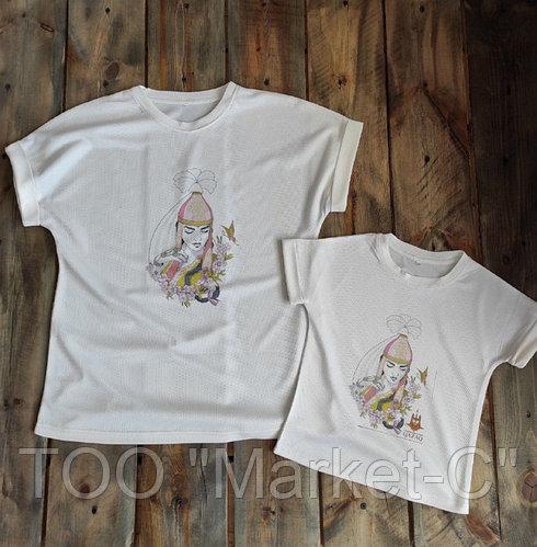 "Женская футболка ""Beautiful print"", Казахстан"