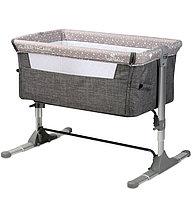 Манеж - кровать Lorelli SLEEP'N'CARE,цвет бежевый,серый.
