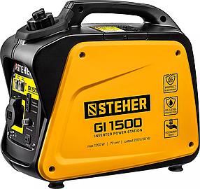 Генератор бензиновый STEHER (Штехер) 1/1,2 кВт, однофазный, синхронный, инверторный (GI-1500)