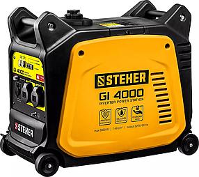 Генератор бензиновый STEHER (Штехер) 3/3,5 кВт, однофазный, синхронный, инверторный (GI-4000)