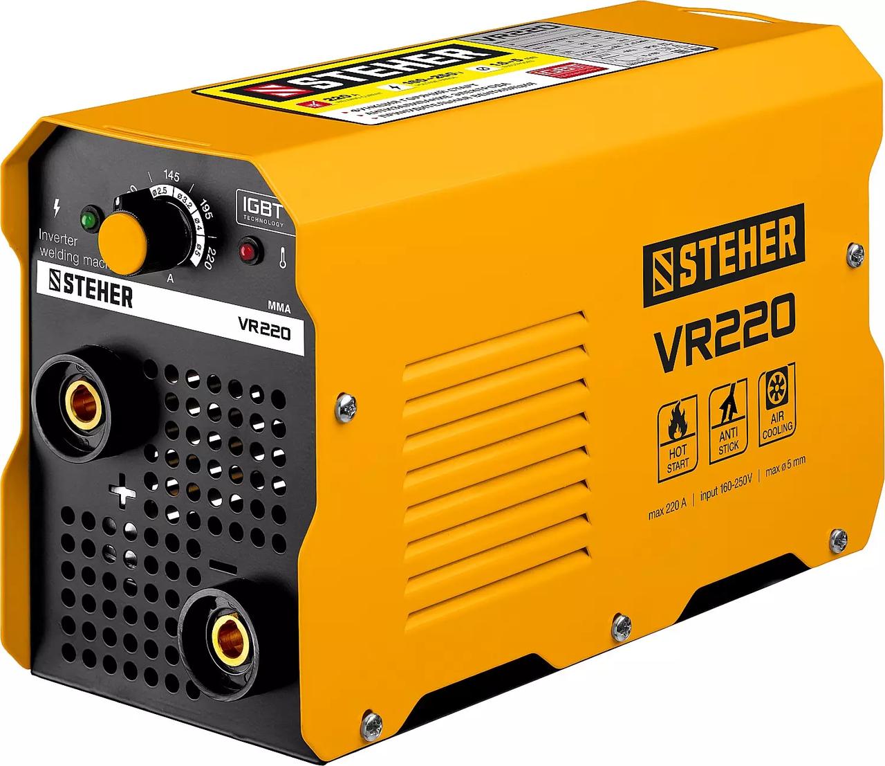 Сварочный аппарат инверторный STEHER 220 А, ММА (VR-220)