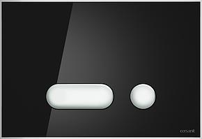Кнопка INTERA для  LINK PRO/VECTOR/LINK/HI-TEC стекло черный
